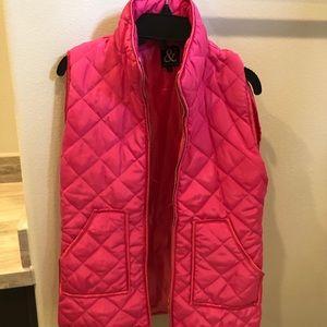 Jackets & Blazers - Neon pink puffer vest